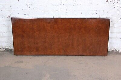 Milo Baughman for Thayer Coggin Burled Maple Queen Size Headboard