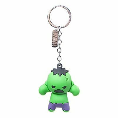 Bioworld Marvel Comics Incredible Hulk Character 3D Pendant Rubber Keychain, One
