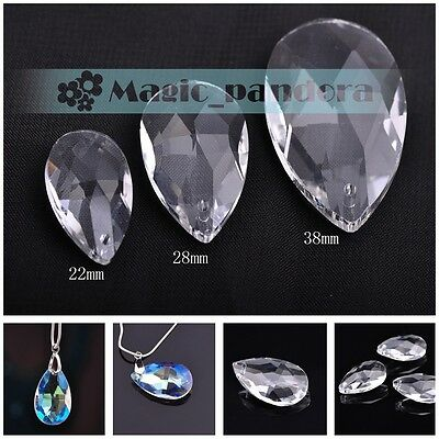 Wholesale Clear/Clear AB Glass Crystal Faceted Beads Jewelry Necklace Pendant