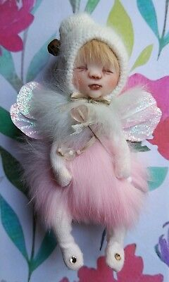 OOAK FAIRY ELFIN DOLL MINIATURE HANDMADE USA *BY SHELL #eBayMarket