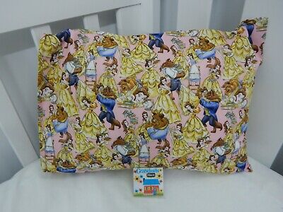 Pillowcase Belle and the Beast Cot Toddler Size 100% Cotton