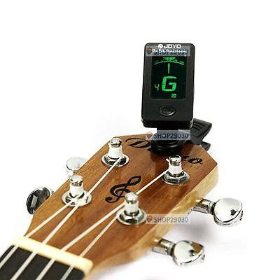 Clip-on LCD Digital Chromatic Electronic Guitar Tuner Bass Violin Ukulele D15 QB