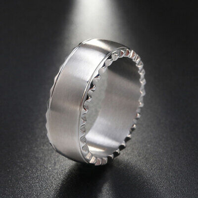 Men & Women Jewelry 9MM Stainless Steel Rings Smooth Surface Black&Silver Colors