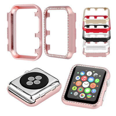Girl Lady's Diamante Case Metal Cover Protector 1pc/Lot For Apple Watch 1 2 3 4
