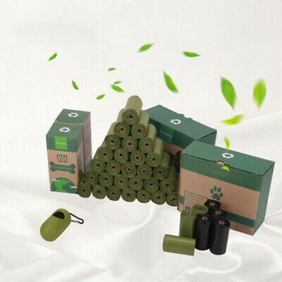 Eco-Friendly Biodegradable Dog Poop Bags 16 Rolls Dogs Waste Poo Bag w Dispenser
