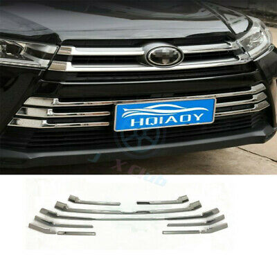 ABS Plate Front Bumper Grille Grill Cover Trim j For Toyota Highlander 2017-2019