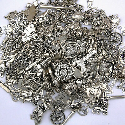 Wholesale 50g Mixed Vintage Tibet Silver Animal Pendants Charms Jewelry Findings