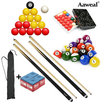 Compact Accessories Kit for Pool Snooker Cues Billiard Table Pool Balls Set
