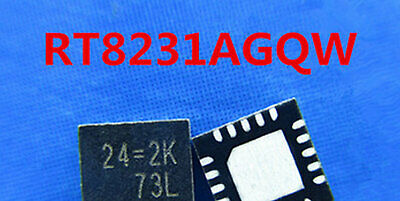 1pcs New RT8231AGQW 24=1A 24=EE 24=2B 24=xx QFN-20 QFN20 Ic Chips Replacement