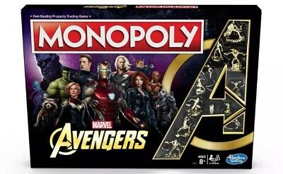 Marvel Avengers Monopoly Board Game - Super Heroes Brand NEW SAME DAY EXPRESS PO