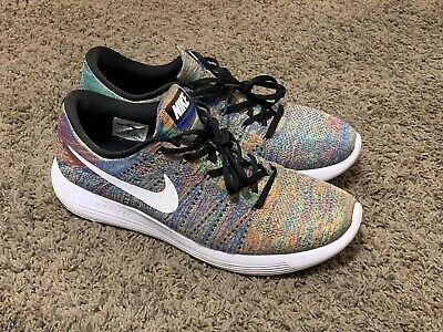 check out 08e59 9c980 Nike Lunar Epic Flyknit 2 Multicolor Black White Running Shoes Mens Size 12  Used