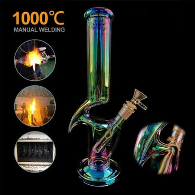 30cm Glass Luminous Hookah Bong Water Pipe Smoking Pipe Shisha Tobacco