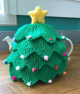 Hand Knitted Christmas Tree Tea Cosy - Fabulous Gift