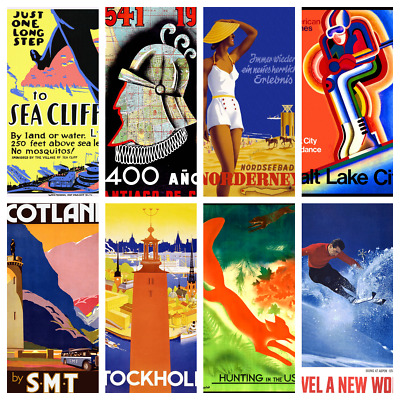TRAVEL POSTERS V2 A3 Wall Decor Cafe Bar Shop Kitchen Bathroom Poster Prints