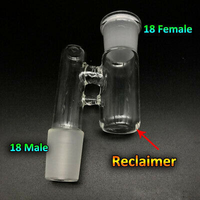 Reclaim Ash Catcher Drop Down Glass Adapter 19mm Male to 19mm Female Lab Glass
