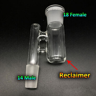 Reclaim Ash Catcher Drop Down Glass Adapter 14mm Male to 19mm Female Lab Glass