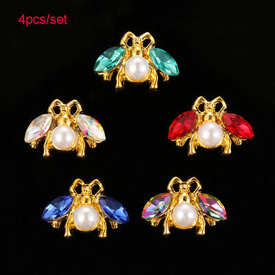 Clothing Garment Decorative Sewing button Bee Rhinestone sew on beads