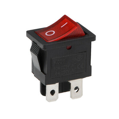 Mini Boat Rocker Switch Red Toggle Switch ON/OFF 4Pins AC 250V/6A 125V/10A