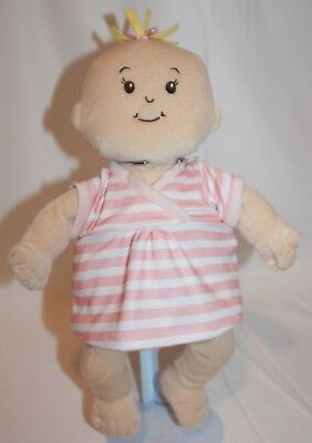 MANHATTAN TOY COMPANY WEE BABY STELLA PLUSH DOLL BLOND Embroidered Features Soft