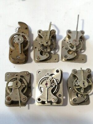 6 Vintage Clock Platform Escapements With Broken Balances (A92)