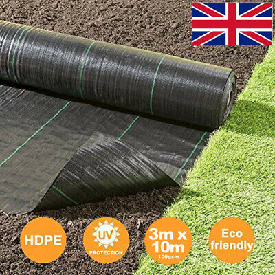 3m Heavy Duty Weed Control Fabric Ground Cover Membrane Garden landscape 100gsm