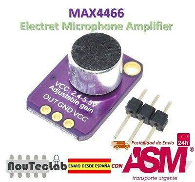 GY-MAX4466 Electret Microphone Amplifier MAX4466 Adjustable Gain Module