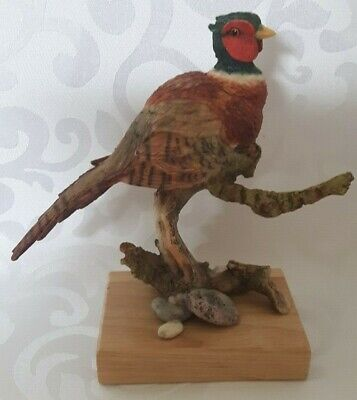 Country Artists Ring Necked Pheasant on Branch Figurine Model 03668
