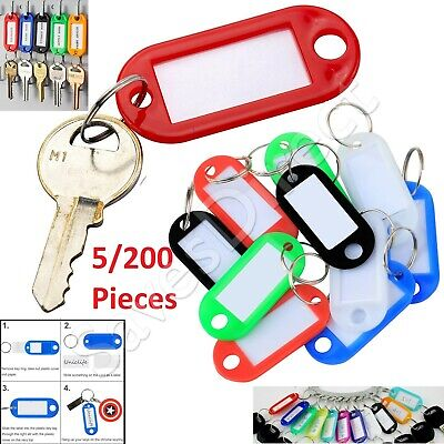 Key Ring Tags Mixed Colours Choose from 5 10 20 50 100 200 Key Chain Tag Label