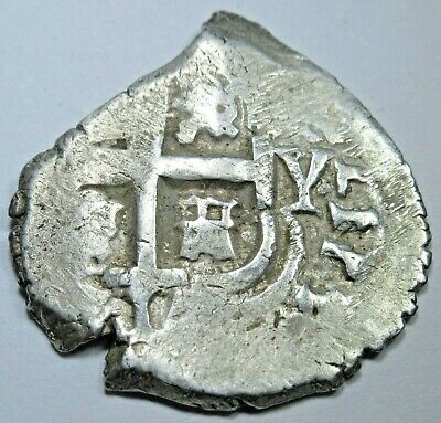 1713 Spanish Potosi Silver 1 Reales Piece of 8 Real Colonial Era Pirate Cob Coin
