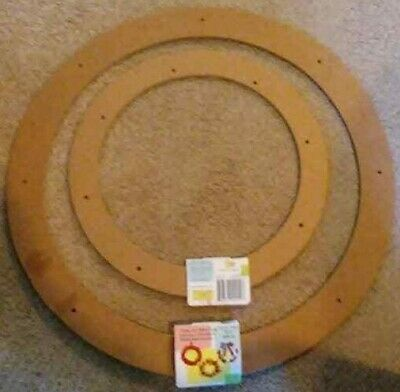 """YOU GET 2 NEW Floral Craft Rings 18"""" & 12""""  Wreaths, Frames 3 Ring Circles brand"""
