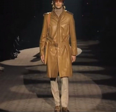bc6b27baf Gucci By Tom Ford 'Runway' Limited Men Leather Trench Coat Jacket Eu ...
