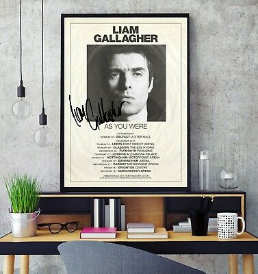Liam Gallagher 2018 Signed Tour Poster Professional Grade Gloss Photo Print HD