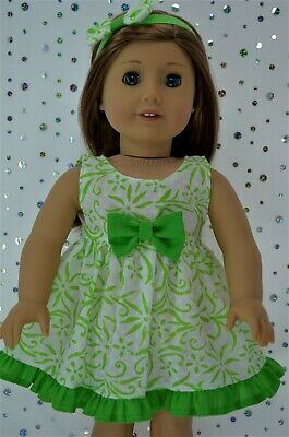 "Doll Clothes For 18""American Girl~Our Generation~Journey FLORAL DRESS~HEADBAND"