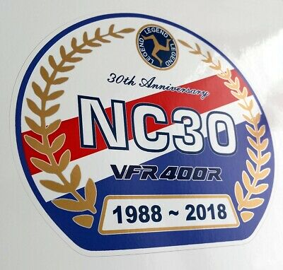 Honda VFR400R NC30 tank / screen decal sticker HRC 30th anniversary