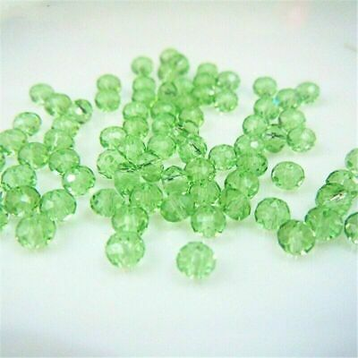 Rondelle Austria Faceted Crystal Glass Beads Loose Spacer Round Jewelry Making