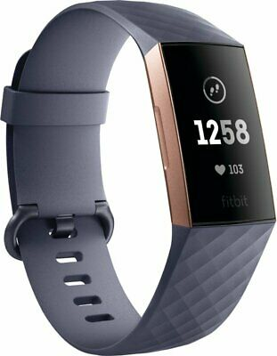 Fitbit Charge 3 Fitness Activity Tracker, Rose Gold/Blue Gray, One Size | Brand
