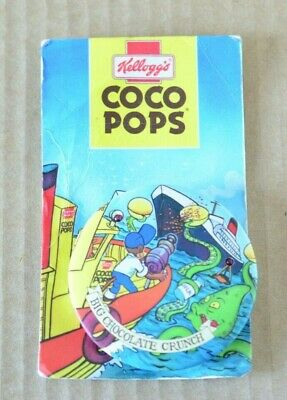 Vintage Kelloggs Coco Pops Cereal Toy Badge On Card Sea Monster Singalong