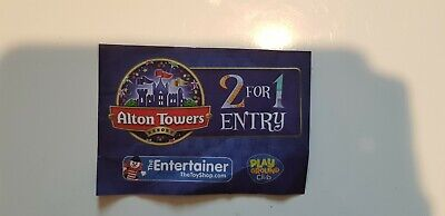 2 FOR 1 ADULT ENTRY ALTON TOWERS Money Saving VOUCHERS to 31.5.20 Voucher code