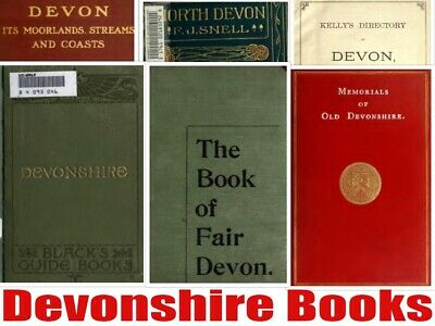 219 Devon Books Genealogy Local History Topograghy Dartmoor Plymouth 2 DVD disc
