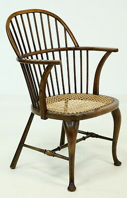 Antique Double Windsor Elbow Chair Cabriole Legs H Stretchers FREE UK Delivery*