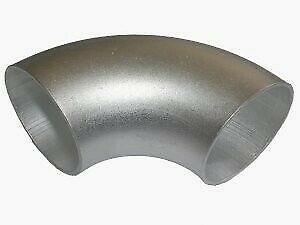 90° Aluminium elbow - Aluminium elbow short 76mm