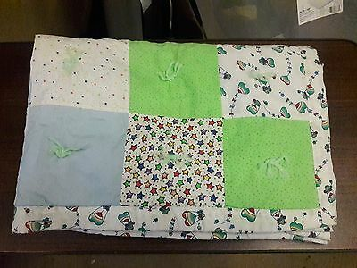 "HANDMADE /""SAFARI/"" 33x42in FLANNEL UNISEX BABY//TODDLER  QUILT BLANKET-GIFT IDEA"