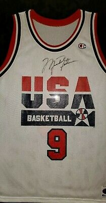 best loved d4c16 c4236 MICHAEL JORDAN SIGNED Olympic Jersey Dream Team! COA ...