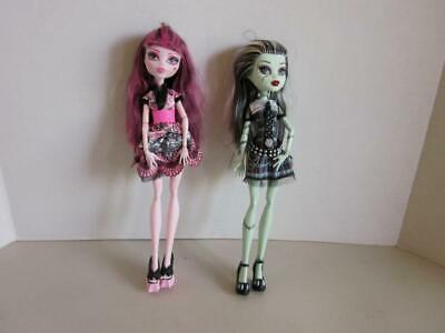 2 Monster High Dolls Draculaura And Frankie Stein