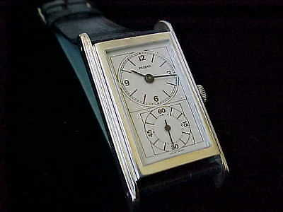 Vintage Record Large Doctors Watch 45 mm Totally Restored Double Stepped Bezel