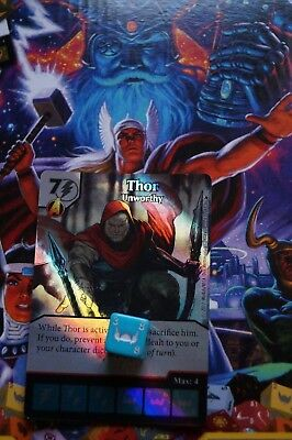 Dice Masters The Mighty Thor - #132 Thor - Unworthy - SUPER RARE FOIL