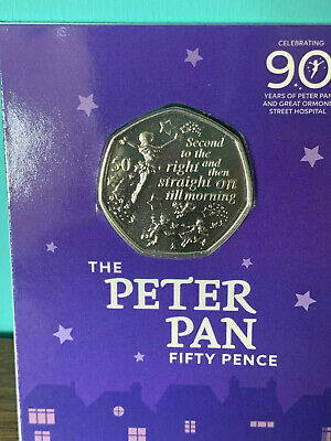 New IOM Peter Pan 50p to support Great Ormond Street uncirculated fifty pence