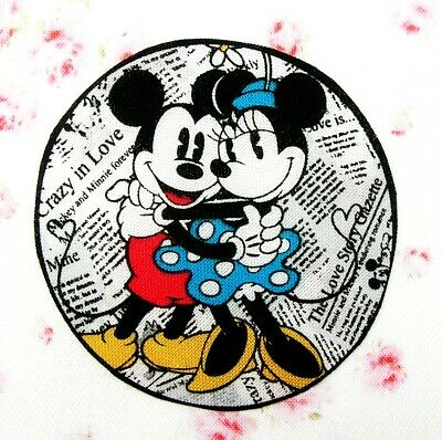 ❤️ Lot 2 Patchs Thermocollant Tissu Disney Mickey Minnie Embellissement