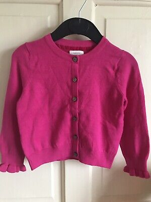 BNWOT Next Cardigan. Girls. Hot Pink. Age 3 - 6 Years.Ruffle Cuff. Soft Touch