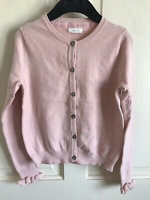 BNWOT Next Cardigan. Girls. Age 3 - 9 Years. Pale/ Dusty Pink. Soft. Ruffle Cuff